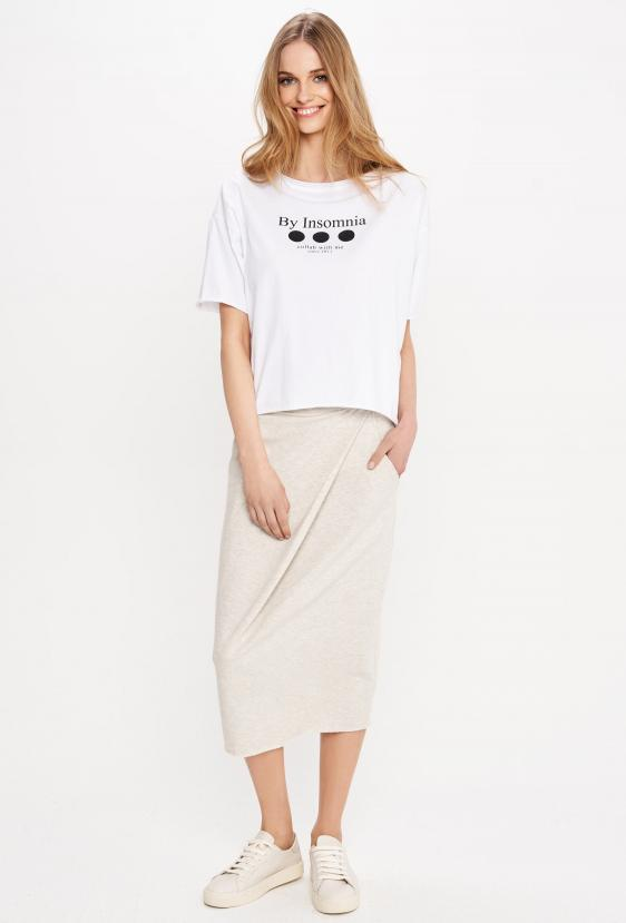 "Koszulka oversize MEGAN T-SHIRT 2 ""COLLAB"" biała"