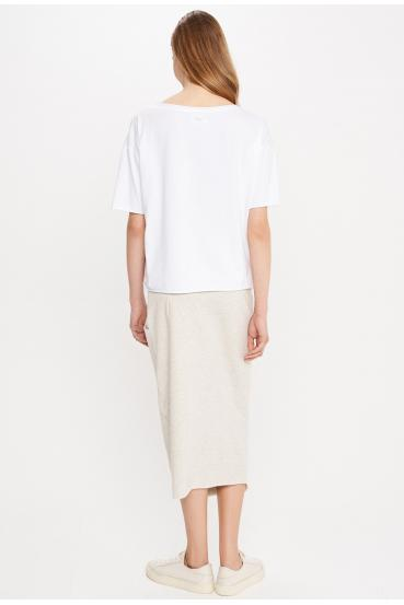 "Koszulka oversize MEGAN T-SHIRT 2 ""COLLAB"" biała_2"
