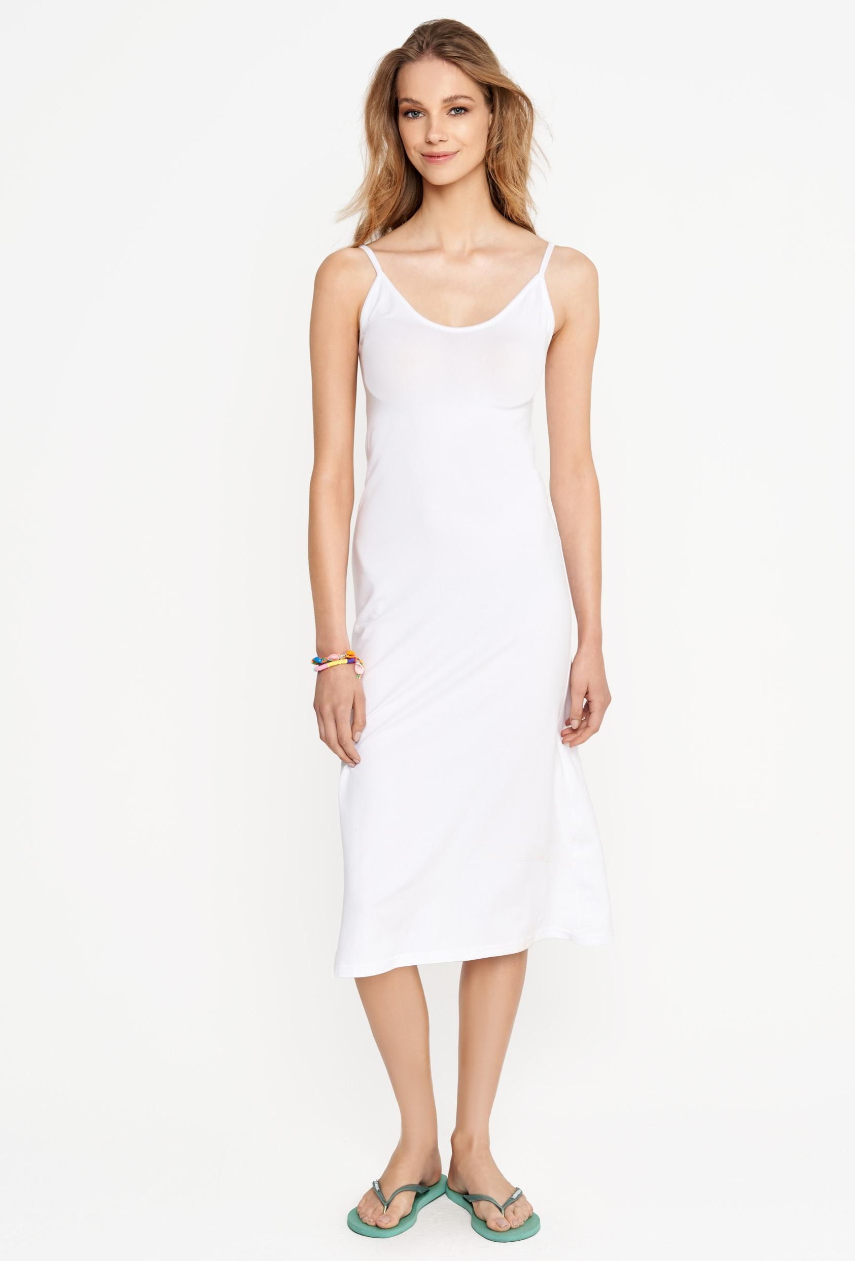 Sukienka midi ESTINE DRESS biała