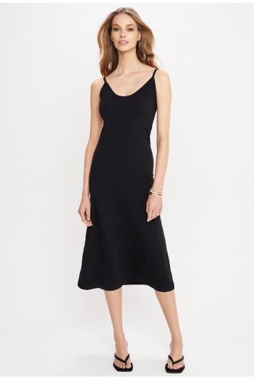 Sukienka midi ESTINE DRESS czarna