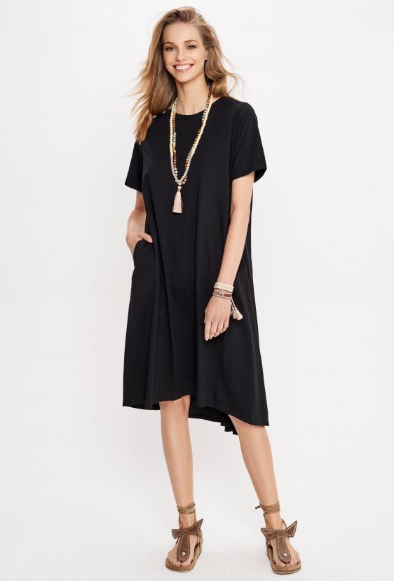 Sukienka midi JOVANNA DRESS czarna