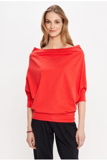 Bluzka oversize KLARA BLOUSE czerwona