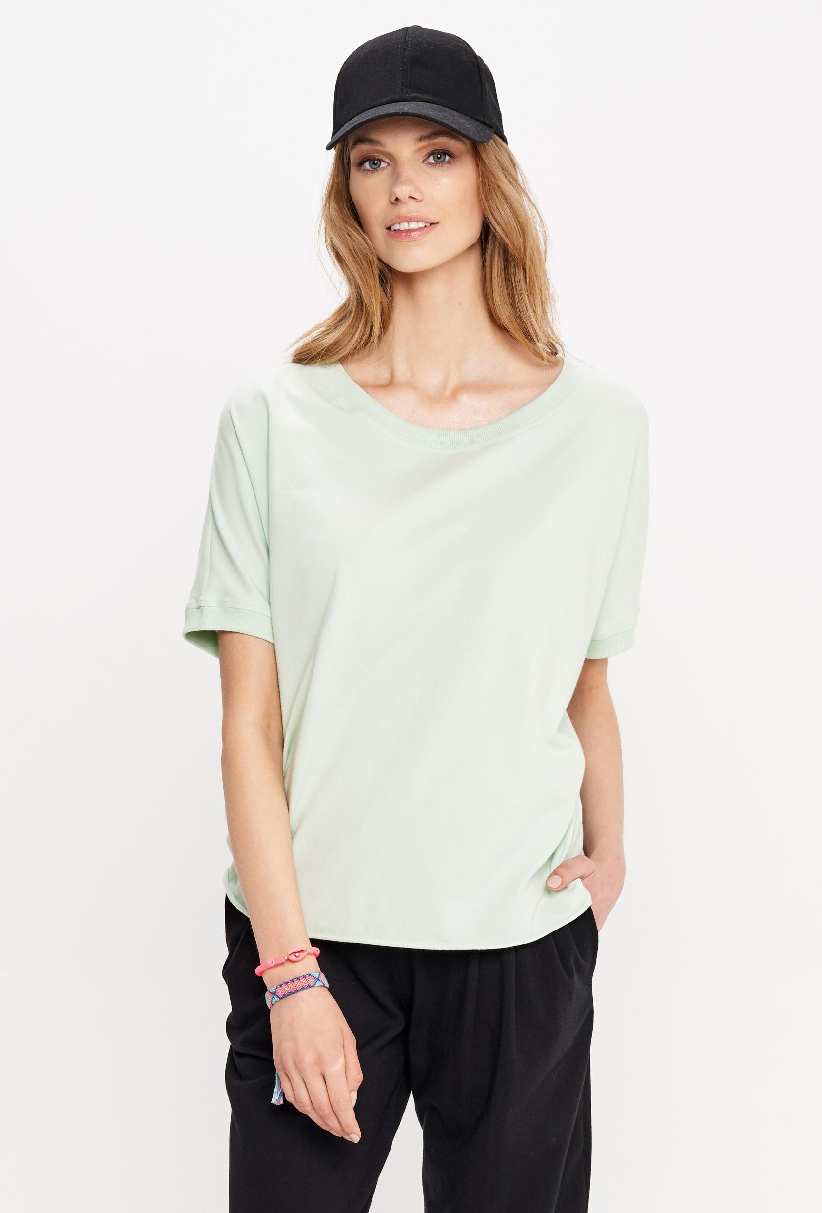 Bluzka z krótkim rękawem SIERRA BLOUSE zielona