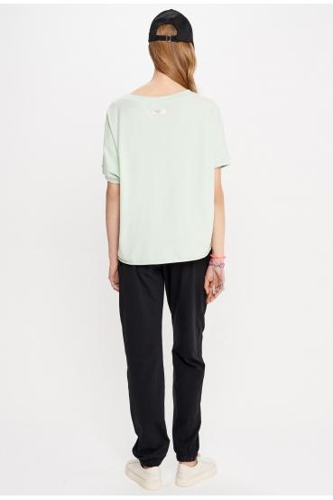 Bluzka z krótkim rękawem SIERRA BLOUSE zielona_2