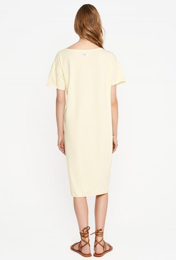 Sukienka midi TANYA DRESS żółta