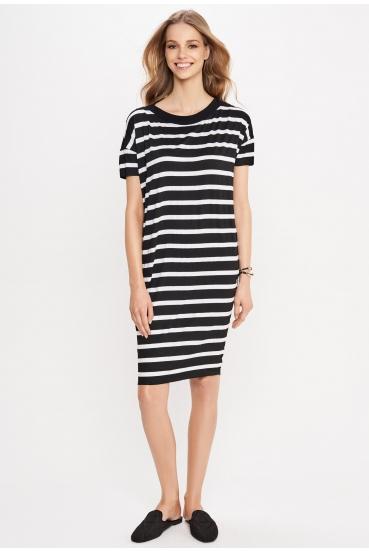 Sukienka mini ALANA DRESS 2 paski czarno białe