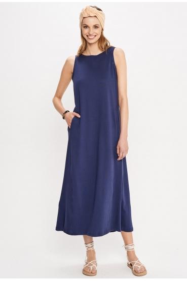 Sukienka maxi DEVEN DRESS granatowa