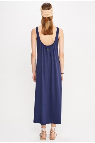 Sukienka maxi DEVEN DRESS granatowa_1