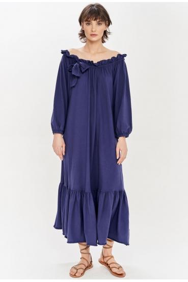 Sukienka maxi BRENNAN DRESS granatowa