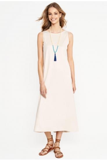 Sukienka maxi DEVEN DRESS kremowa