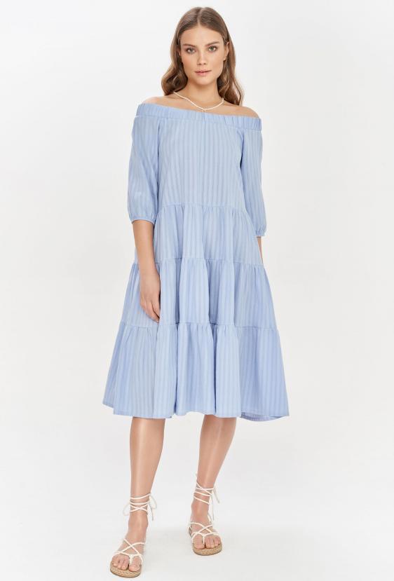 Sukienka midi LYDIA DRESS LTD błękitna