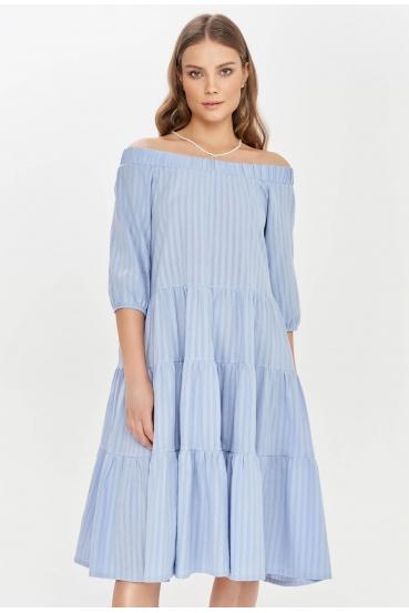 Sukienka midi LYDIA DRESS LTD błękitna_1