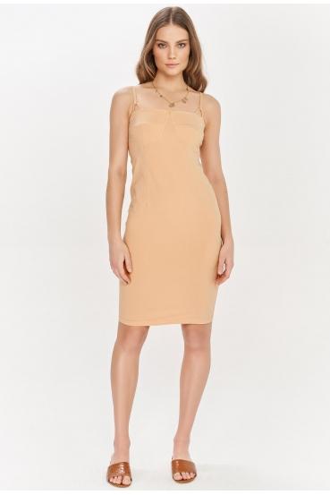 Sukienka mini SAVON DRESS beżowa_2