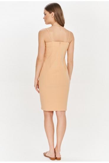 Sukienka mini SAVON DRESS beżowa_3