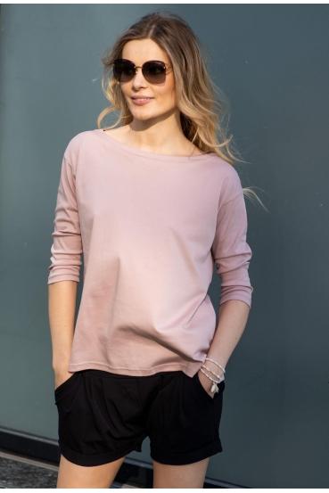 Koszulka prosta WEST T-SHIRT różowa