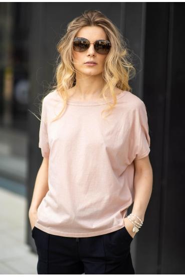 Koszulka oversize NANETTE T-SHIRT różowa