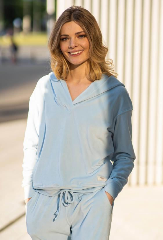Bluza z kapturem MILLIE JUMPER LTD błękitny