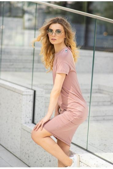 Sukienka midi VEGA DRESS 2 różowa_1