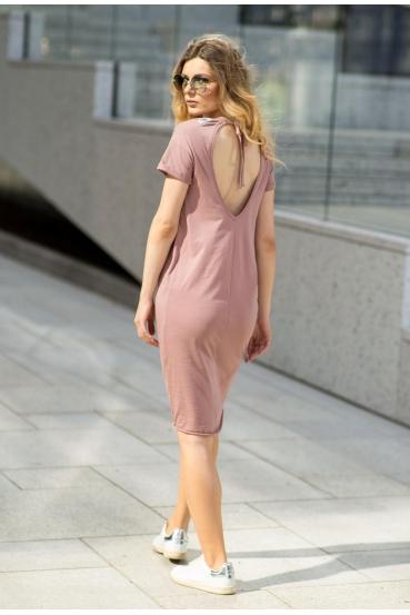 Sukienka midi VEGA DRESS 2 różowa_2