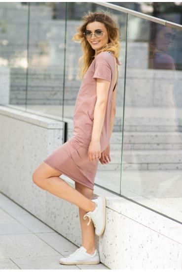 Sukienka midi VEGA DRESS 2 różowa