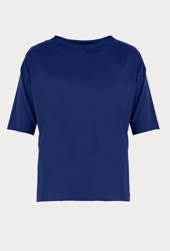 Koszulka oversize MEGAN SUMMER T-SHIRT ciemny granatowy