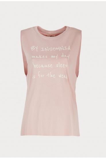"""Koszulka na ramiączkach ALEXIA TOP """"MAKES MY DAY"""" różowa_3"""