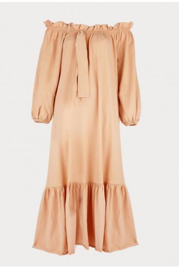 Sukienka maxi BRENNAN DRESS beżowa_2
