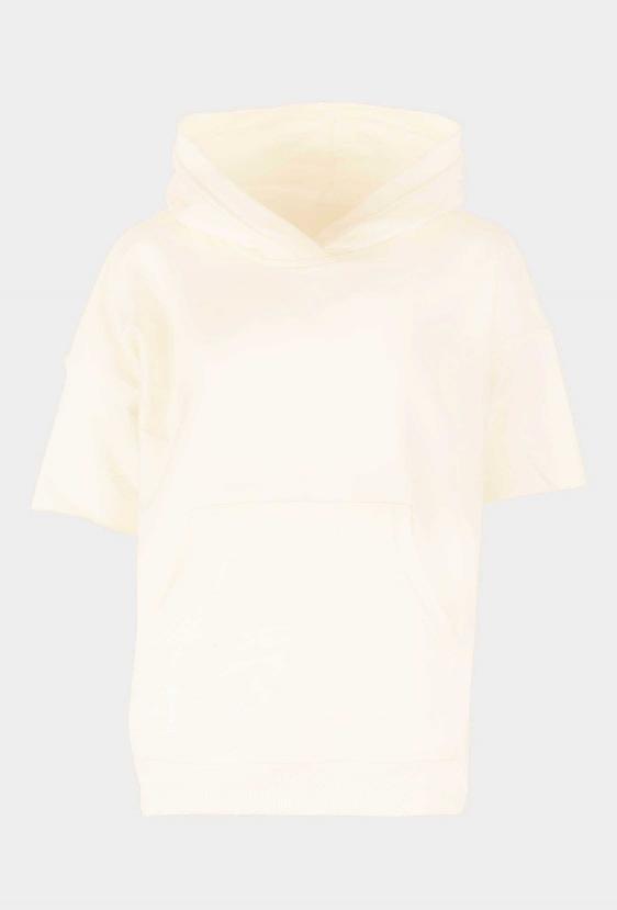 """Bluza z kapturem CLEMENCE JUMPER """"BY I"""" żółta"""