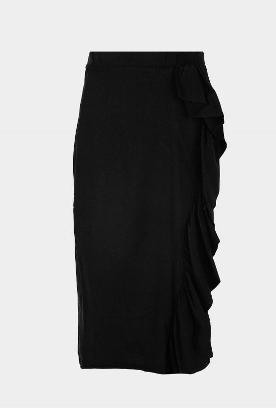 Spódnica midi CRYSTAL SKIRT czarna