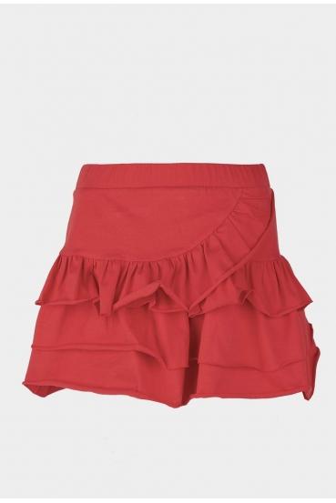 Spódnica mini KLOSS SKIRT czerwona_3