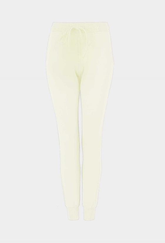 """Spodnie bawełniane MADALINE PANTS """"BY I"""" żółte"""