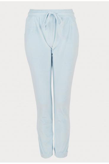 Spodnie welurowe MADALINE PANTS LTD błękitne_2
