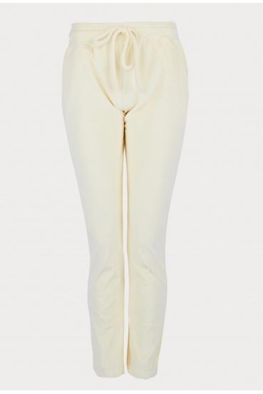Spodnie welurowe MADALINE PANTS LTD żółte_2