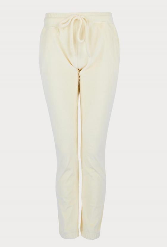 Spodnie welurowe MADALINE PANTS LTD żółte