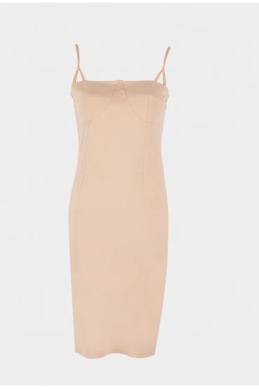 Sukienka mini SAVON DRESS beżowa_4
