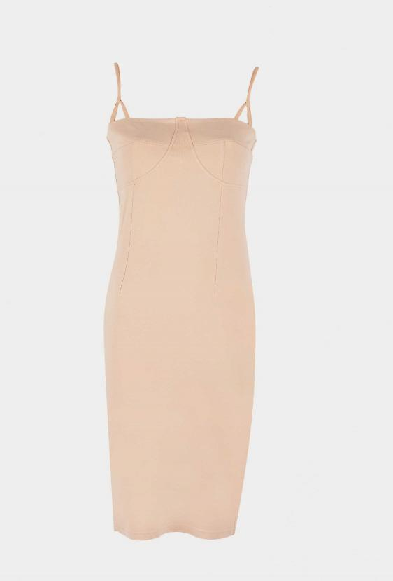 Sukienka mini SAVON DRESS beżowa_1