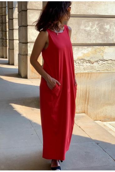 Sukienka maxi DEVEN DRESS czerwona