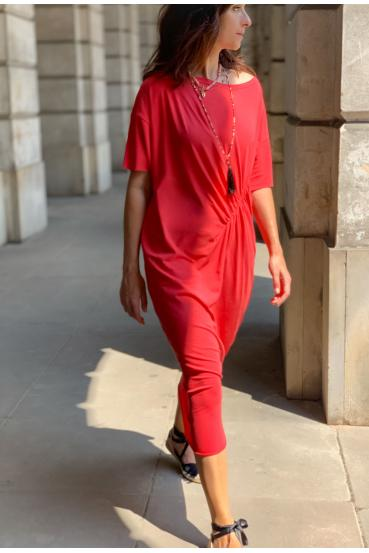 Sukienka midi TANYA DRESS czerwona