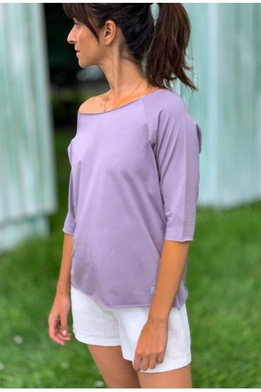 Koszulka prosta OLIVIA T-SHIRT fioletowa