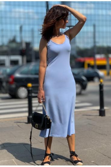 Sukienka midi ESTINE DRESS błękitny