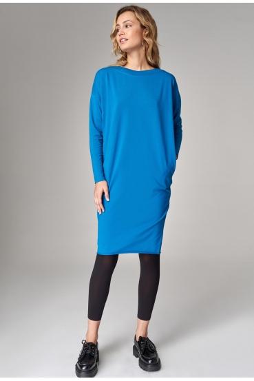 Sukienka midi ALANA DRESS turkusowy