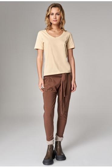 Koszulka prosta ZALIA T-SHIRT żółty