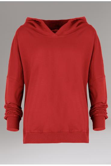 Bluza z kapturem EDEN JUMPER czerwony_3
