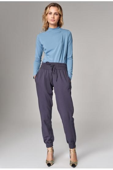 Spodnie dresowe BECCA PANTS nocne niebo