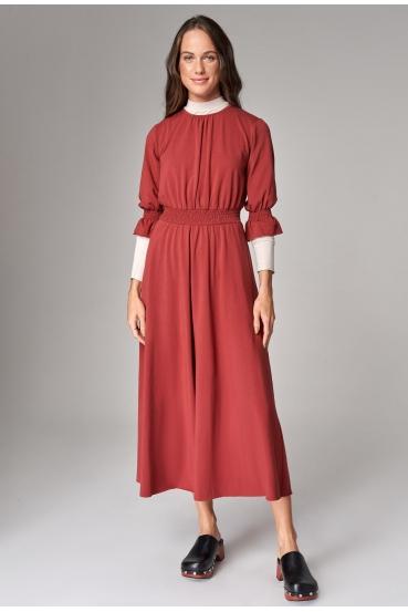 Sukienka maxi ARUBA DRESS czerwone wino