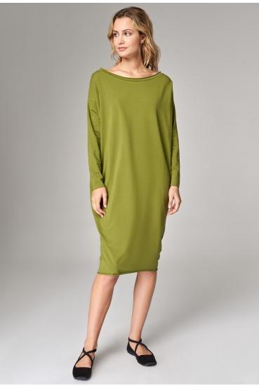 Sukienka oversize MEGAN MAXI LONG DRESS oliwkowa