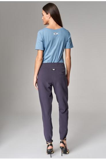 Spodnie bawełniane JUDY PANTS nocne niebo_1