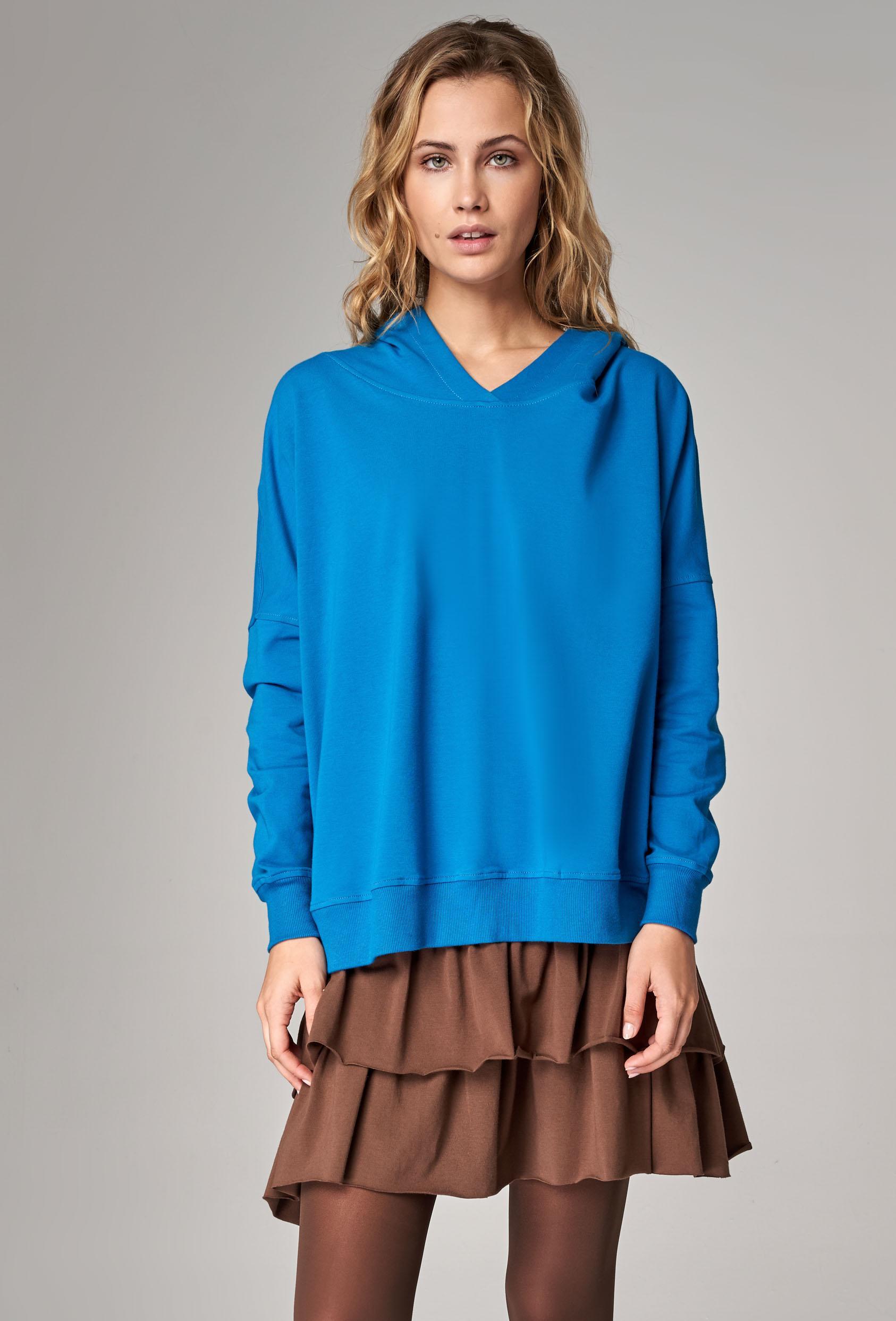 Bluza z kapturem EDEN JUMPER turkusowy
