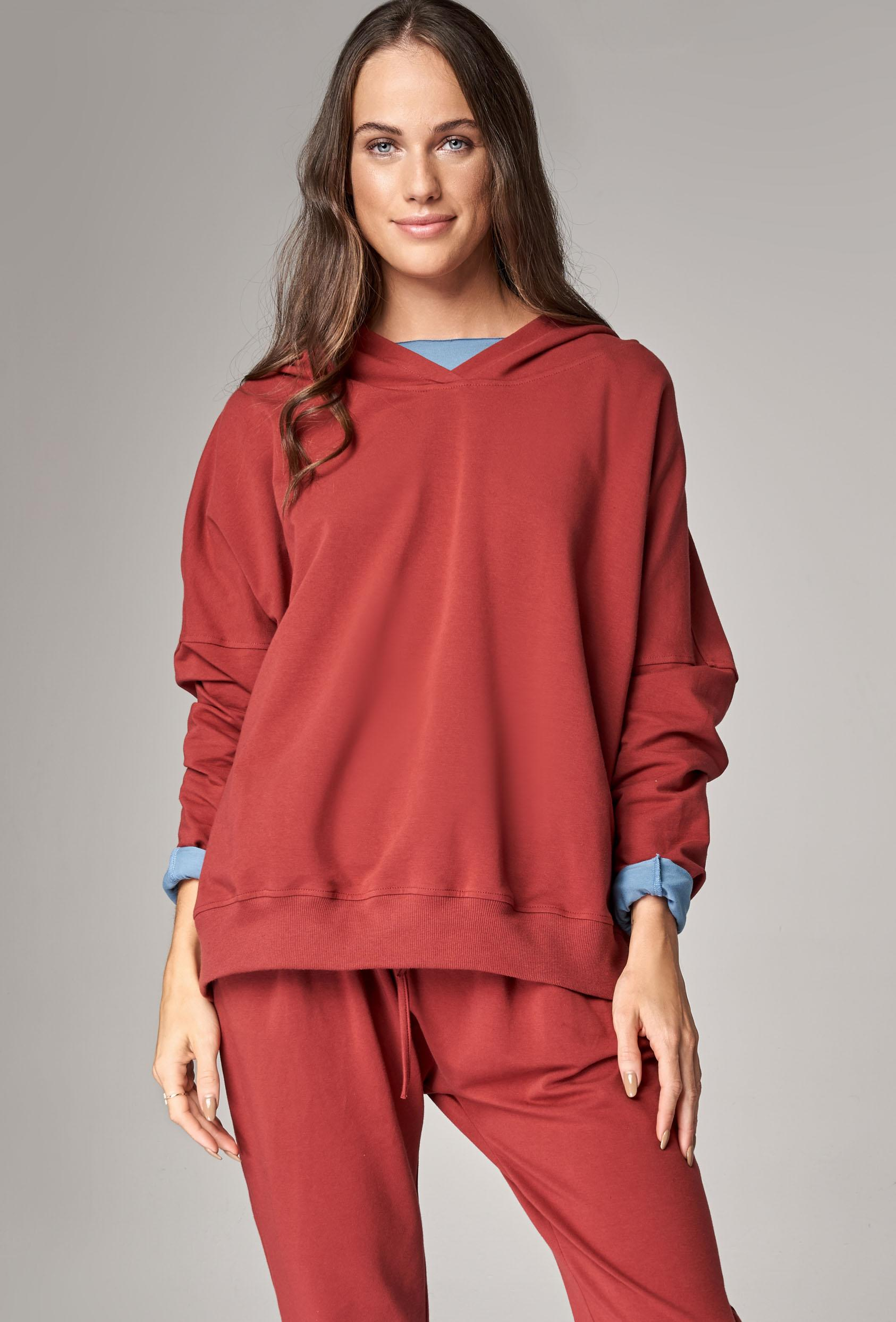 Bluza z kapturem EDEN JUMPER czerwony