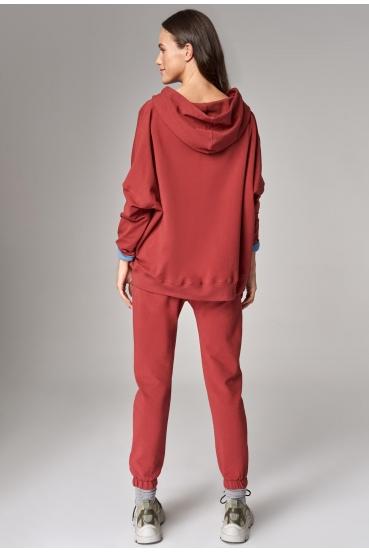 Bluza z kapturem EDEN JUMPER czerwony_2